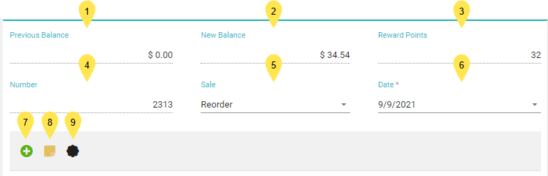 Top of Invoice & Toolbar
